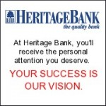 Heritage Bank--The quality bank--At Heritage Bank, you'll receive the personal attention you deserve. YOUR SUCCESS IS OUR VISION.